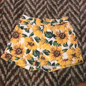 sunflower denim mom shorts